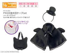 Azone Pureneemo PNS Angel Wings Cape Set Dark Black Momoko 1/6 Obitsu Halloween