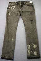 Cult of Individualit Mens Shitake Rocker Slim Graffiti  Jeans NWT  36 x 33  $219