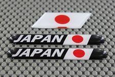 Japan 日本国 Flag 3D Decal Sticker Dome 3 Pcs Set Motorcycle ATV Cars