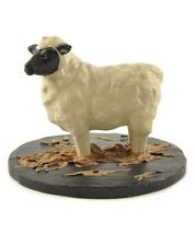 Blossom Bucket-Sheep On Base in Straw- *So Cute*
