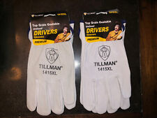 Tillman Top Grain Goatskin Unlined Drivers Gloves 1415Xl (Xlarge) - Two Pairs