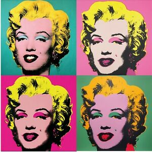 Poster Arte ANDY WARHOL Marilyn Monroe Pop Art Cinema Diva Ritratto Cult