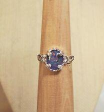 Australian Opal Sterling Silver Ring - Size 7