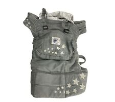 Ergobaby Ergo Baby Carrier Canvas Sling Gray Hooded with Star Embroidered Detail