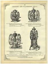 1902 PAPER AD Cast Iron Enterprise Floor Counter Coffee Mill Grinder #18 #12 #1