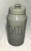 """Rae Dunn Ceramic grey """"OATS"""" Canister-----BRAND NEW!     (Ships Same Day!)"""