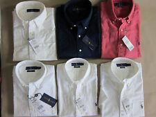 Polo Ralph Lauren-Kurzarm-Hemd-Leinen, Baumwolle, weiß, Rot, Dunkelblau,