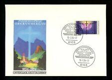 Postal History Germany Fdc #1413 Religion Oberammergau Passion Play 1984