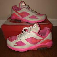 Nike Air Max 180 Comme des Garcons CDG Laser Pink/Solar Red White Size Sz 9.5