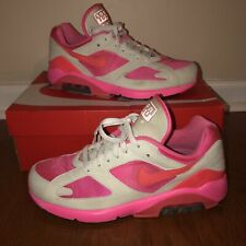 7be02eddaca0 Nike Air Max 180 Comme des Garcons CDG Laser Pink Solar Red White Size Sz