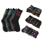 6 Pairs: Nicole Miller Women's Assorted Lurex Crew Socks - Size 9-11
