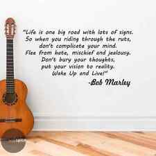 Bob Marley Wake Up And Live Song Lyrics Quote Vinyl Wall Decal Sticker