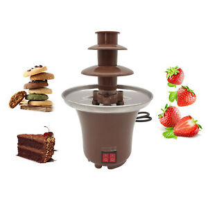 Compact Chocolate Fondue Fountain Easy to Assemble 3 Tiers Nacho Cheese