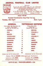 Arsenal v Tottenham, Football Combination Cup Final, Reserves, April 1968