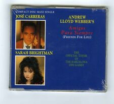 MAXI CD SINGLE (NEW) JOSE CARRERAS SARAH BRIGHTMAN AMIGOS PARA SIEMPRE