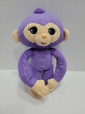 "Fingerlings Monkey Bright Purple Plush stuffed 9"" posable toy doll"