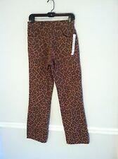 New with tags Geometrie women's size 4 pink leopard pants animal print cheetah