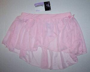 DANSKIN PINK DANCE BALLET SKIRT TUTU DRESS GIRLS X-SMALL 4/5 4 5 NWT