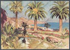 IMPERIA SANREMO 115 GIARDINI Illustratore ALDO RAIMONDI Cartolina viaggiata 1960