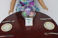 "Roses Plate S for 15"" - 18"" American Girl Doll Dishes Table Food Accessory 992P"