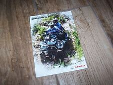 Catalogue / Brochure KYMCO Gamme / Full Line Quads & SSV  201? //