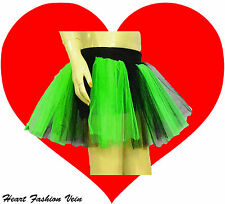 Green Black Neon UV tutu skirt Cyber Rave Dance butterfly Fairy party Halloween