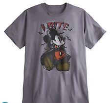 Disney Mickey Mouse Halloween Vampire I Bite Mens Plus 3X 3XL Tee  T Shirt NWT