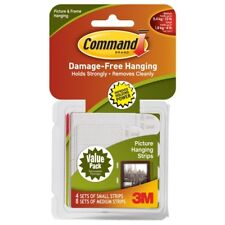 3m Command Picture Hanging Strips 4x Small 8x Medium Damage Adhesive Tape