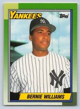 "1990  BERNIE WILLIAMS - Topps ""TIFFANY-ROOKIE"" Baseball Card # -701 - N.Y. YANKS"