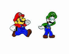 Enamel Pin Badges - Set of 2 - Mario and Luigi Gamers Play Station - EB0012