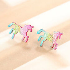 Girls Cool/Trendy Multi-Coloured Magical Unicorn/Horse Stud Earring Jewellery