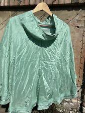 Essential Antwerp Green Silk Summer Skirt Size 38 EU 10 UK
