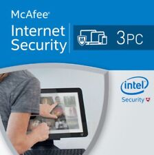 McAfee Internet Security 2018 3 PC 12 Months License Antivirus 2018 3 user