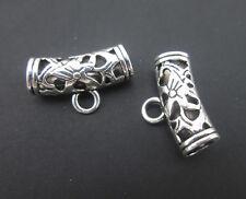 20x Tibetan Silver Tone Dangle Bails Connectors For Charms Jewelry Pendants