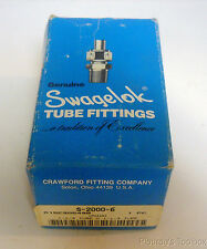 "New Swagelok 1-1/4"" Tube Carbon Steel Union Fitting, S-2000-6"