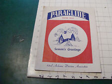 CHECK It Out--PARAGLIDE winter 1962-63 Season's Greetings 8n airborn division as