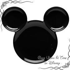 Disney Parks RARE* Mickey Black Icon Plate * Theme Parks Authentic * SET of 4