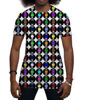 Vinyl Records Retro Music All Over Print Fashion Holiday Summer Mens T Shirt