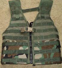 MOLLE II Fighting Load Carrier Vest WOODLAND CAMO LBV FLC Tactical USGI Zippered