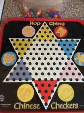 Vintage Hop Ching Chinese Checkers Board w/Marbles