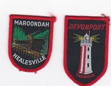 Vintage Devonport & Maroondah. souvenir embroidered cloth patches.