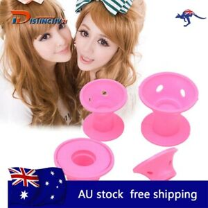 Pink 30PCS Silicone Hair Curlers Set Kit Magic Soft Rollers Hair Care No Heat DV