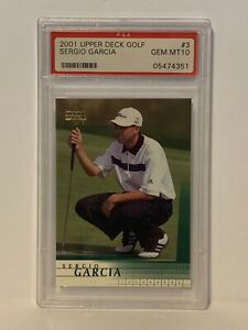 2001 Upper Deck Golf Sergio Garcia PSA 10 Gem Mint #3