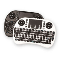Rechargeable Mini 2.4Ghz Wireless Keyboard'Touchpad Remote for PC TV Android#L