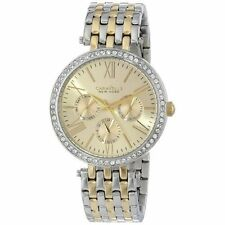 Caravelle New York Women's 45N100 Analog Display Japanese Quartz Two Tone Watch