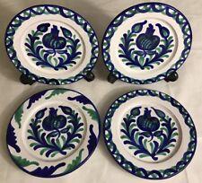 Lot 4 Assiettes Vintage Signées Artesania Alvarez Made In Spain D 20 Cm