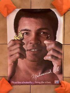 Super Rare Original 1977 Muhammad Ali Pepsi Promotional Poster Boxing GOAT Mint