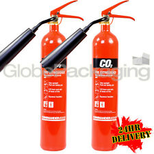 2 x 2KG CO2 CARBON DIOXIDE FIRE EXTINGUISHERS WAREHOUSE OFFICE HOME NEW *24HRS*