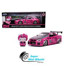Jada 1:24 Metal Hello Kitty & 2002 Nissan GT-R BNK34