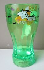 Peanuts Snoopy & Woodstock Halloween Light-up/Flashing Glass/Cup Green New